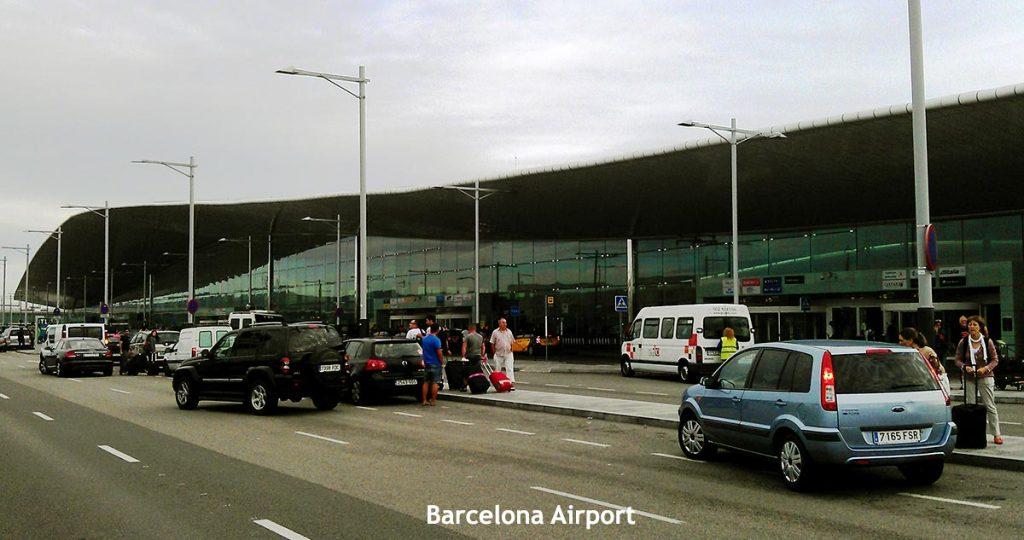 Barcelona's Airport El Prat Exterior