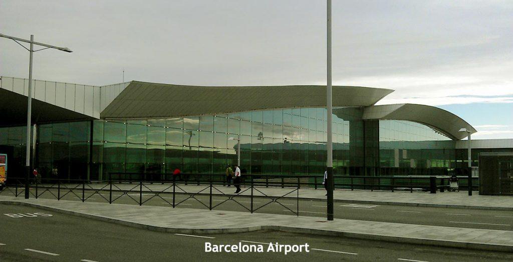 Barcelona's Airport El Prat Exterior Building