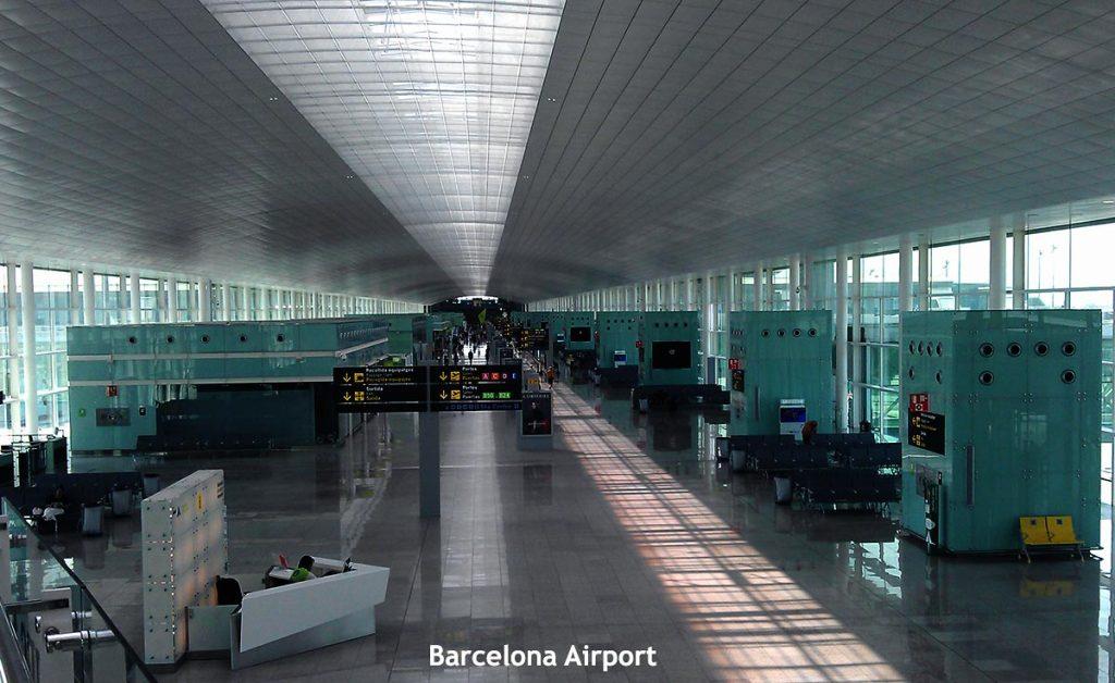 Barcelona's Airport El Prat Interior