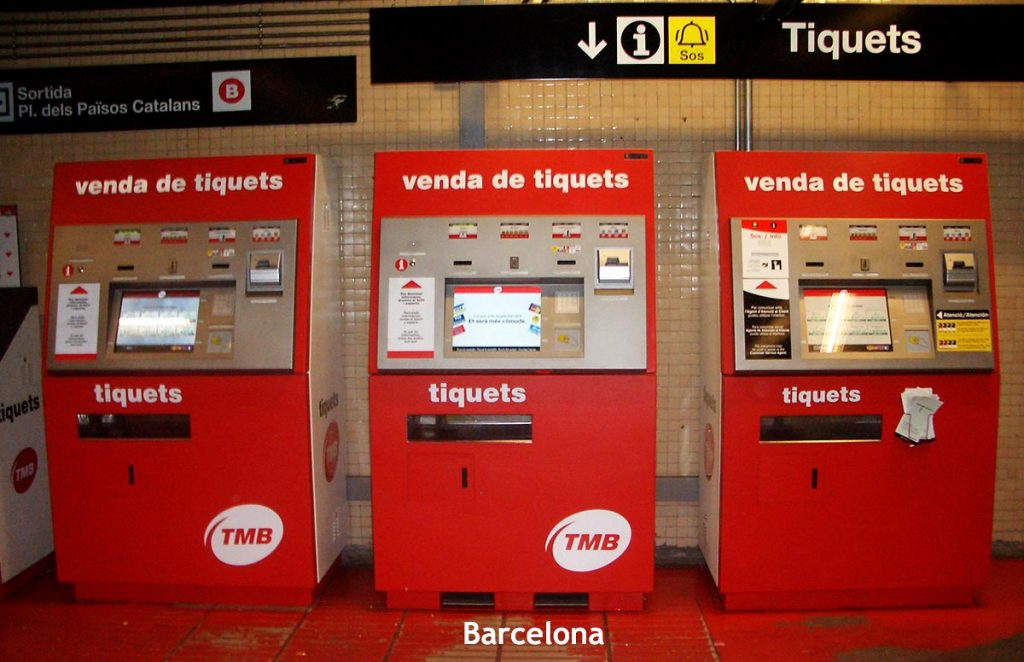 Ticket Machines in Barcelona