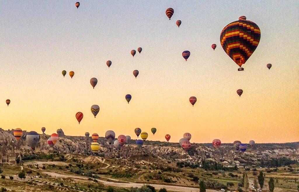 Take a hot air balloon ride over Fairy Chimneys